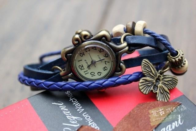 Дамски часовник с пеперуда