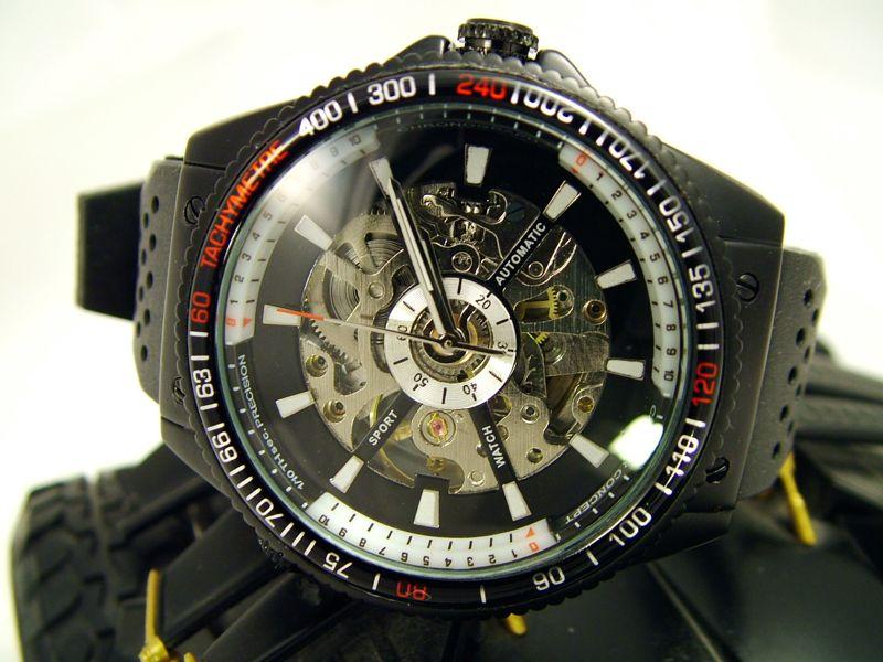 Спортно-елегантен часовник скелетон