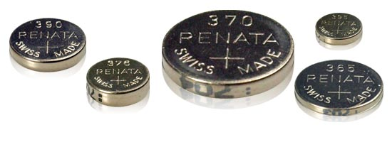 различни видове батерии за часовници