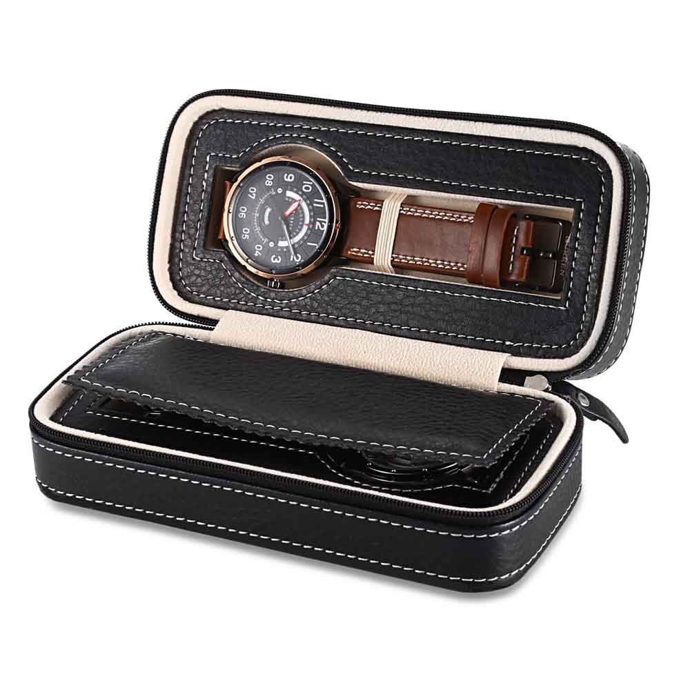 евтина кожена кутия за часовник за път