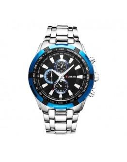 Масивен мъжки часовник - сребрист