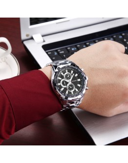 Мъжки сребрист бизнес часовник