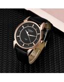 Класически мъжки часовник с кожена каишка - 2 модела