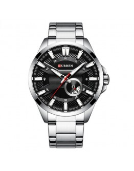 Сребрист стоманен бизнес часовник - Haderslev