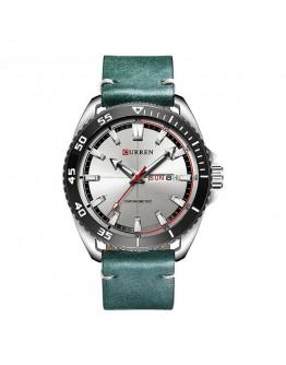 Мъжки часовник с кожена каишка - Navigator /зелен/кафяв/
