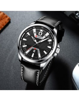 Мъжки официален часовник с кожена каишка - Toftlund