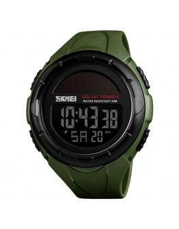 Водоустойчив спортен соларен часовник - зелен или черен