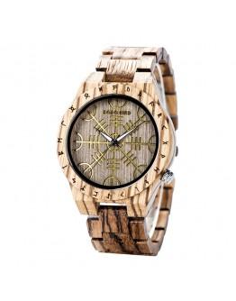 Дървен часовник зодиак - Punaluu